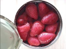 Canned Fresh Strawberry Fruit in sugar
