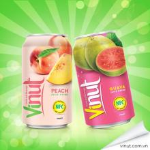 Famous Brand VINUT 350ml Fresh Fruit Can Juice