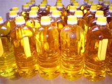 Sunflower Oil in the bottles/