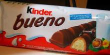 KINDER BUENO CHOCOLATE BAR (2x3x10)