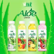 VINUT Plastic Bottle With Sacs Original Flavored aloe vera drink with Lychee