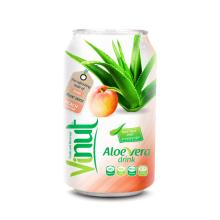 Cans Fresh Aloe vera drink with Peach Juice 330ml (Pack of 24)