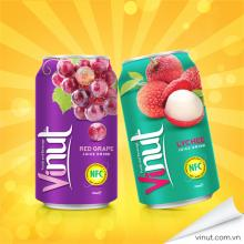 Flavours of VINUT 330ml Red Grape Juice with Peelded Grapes
