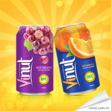 Red Grape Juice Brands in Vietnam Canned 330ml