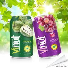 Wholesale food and beverages fruit juice aluminium can 330ml Natural red grape juice VINUT