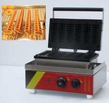 6 pcs/plate 110v and 220v Commercial Use Electric lolly waffle  making   machine  hot dog waffle stick