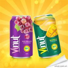 Wholesale fruit juice aluminium can 330ml Natural red grape juice