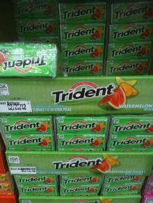 Trident Chewing gum , Tropical twist chewing gum