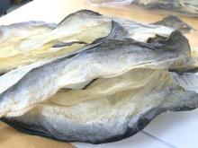 Dried catfish skin