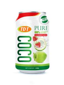 330ml TDT Coconut water with Strawberry