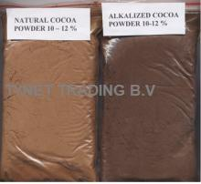Natural and alkalized cocoa powder,