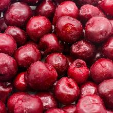 IQF whole red sour cherries (without stones)