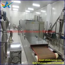 Continuous stainless steel industrial microwave dryer