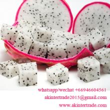 Frozen IQF Red and White Dragon Fruit / Pitaya pulp from Thailand Slice l Chunk shape