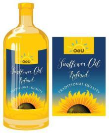 Refined sunflower oil of Ukraine