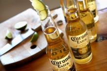 /corona beer metal cooler/./