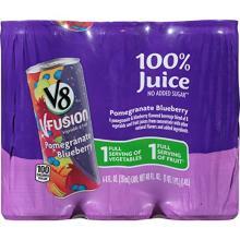 V8 V-Fusion 100% Juice, Pomegranate Blueberry