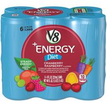 V8 V-Fusion Plus Energy Fruit Juice, Diet Cranberry Raspberry