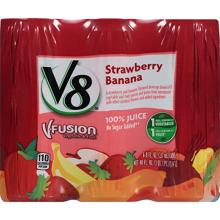 V8 V-Fusion 100% Juice, Strawberry Banana