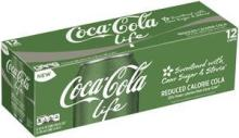 Coke Life Reduced Calorie Coca Cola with Stevia