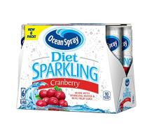 Ocean Spray Sparkling Juice, Diet Cranberry,