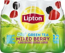 Lipton Diet Green Tea, Mixed Berry,