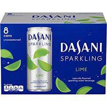Dasani Sparkling Drinking Water, Lime