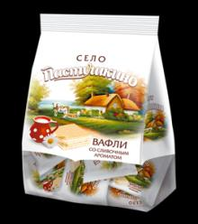 "Wafers Pastushkino Village ""with creams flavor ""250gr*12packs"