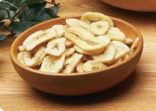 healthy snack food freeze dried banana