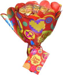 Chupa Chups Lollipop Flower Bouquet (19 lollipops)
