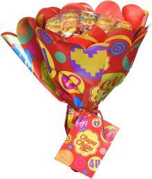 Chupa Chups Lollipop Flower Bouquet (19 lollipops)