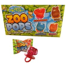 24 x Zoo Pops Fruity Animal Mini Lolly Sweets Lollies With Rings - Wholesale Bul