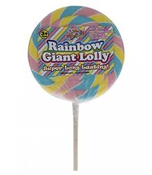 Giant Swirl Lollipop Candy Cane Lolly Gift Toy Party Bag Cake Topper by Lizzy? (Rainbow Swirl)
