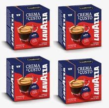 Lavazza A Modo Mio Crema E Gusto 16 Coffee Machine Capsules (Pack of 4)