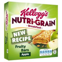 Kellogg's Nutri-Grain Fruity Breakfast Bars Apple 6 x 37g Bars
