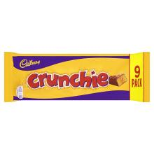 Cadbury Crunchie Chocolate Bar, 9 x 26.1g