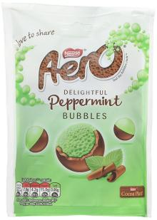Aero Bubbles Mint Chocolate Sharing Bag, 113 g