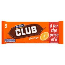McVitie's Club Orange Chocolate Biscuit, 8 x 22g1