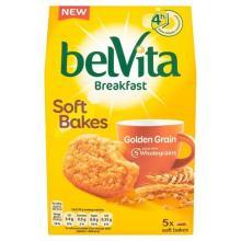 Belvita Breakfast Soft Bakes Golden Grain Biscuits, 5 x 50g
