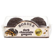 Border Biscuits Dark Chocolate Ginger Biscuits, 175g