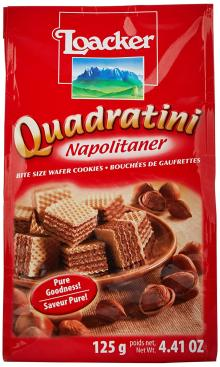 Loacker Napolitaner Hazelnut Wafer, 125 g