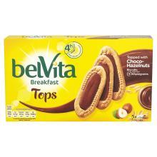 Belvita Breakfast Tops Choco-Hazelnut Biscuits, 5 x 50g