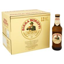 Birra Moretti Premium Italian Beer Bottles, 12 x 330ml