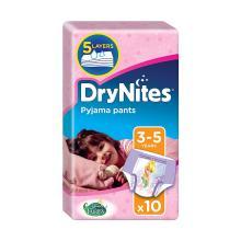 Huggies DryNites Pyjama Pants for Girls, Age 3-5 - 10 Pants Total