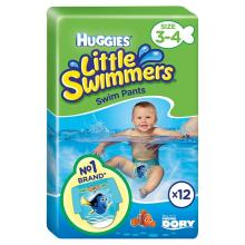 Huggies Little Swimmers Disposable Swim Nappies, Size 3-4 - 12 Pants Total 1