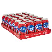 Rubicon Sparkling Pomegranate Juice Drink Cans, 330ml - Pack of 24