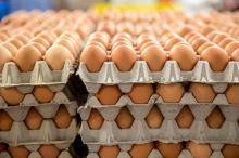 Класс АА свежие коричневые столовые яйца (размер М 53-63 ГМ)