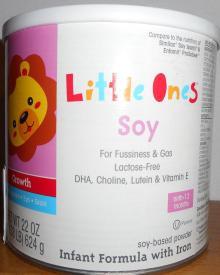 Little Ones Soy Based Powder Infant Baby Formula with Iron 22oz Expires 2019!!!