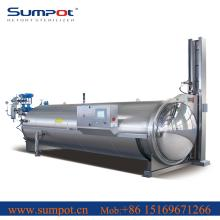 automatic high efficiency water spary retort  sterilizer  for aluminum  can s sterilizing with reasonabl