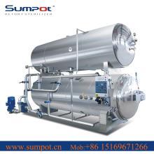 Water immersion high temperature retort machine